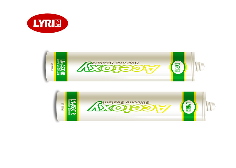 Waterproof Aquarium Acetoxy Cure Silicone Sealant High Speed Curing